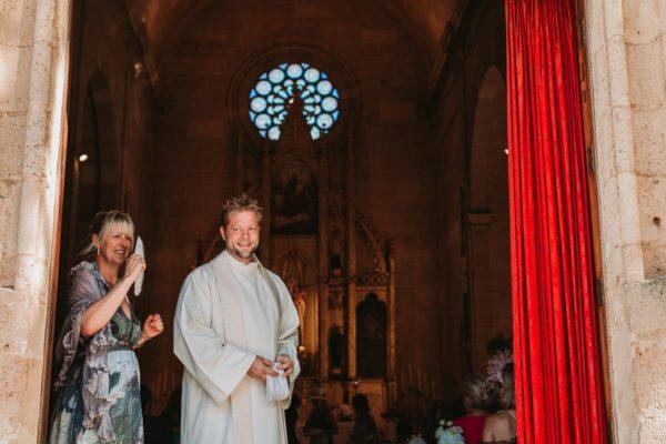 Eine kirchliche Trauung mit Eike Rappmund.