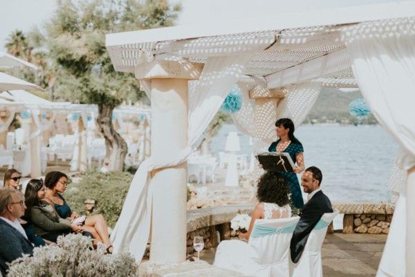Während meiner Hochzeitsrede in der Hochzeitslocation Port Verd del Mar auf Mallorca.