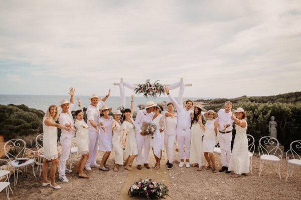 Gruppenfoto mit der Silberhochzeitsgesellschaft